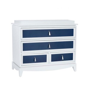 DucDuc Regency Wooden 4 Drawer Changer in White & Old Navy
