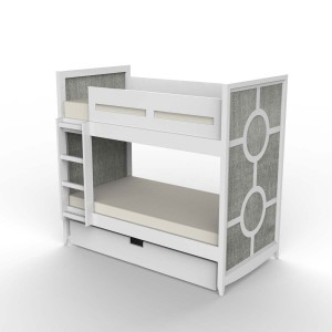 DucDuc Regency Wooden Bunk Bed in White & Weathered