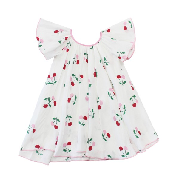 GulHurgelAW18GirlsFlutterSleeveDressCherry1