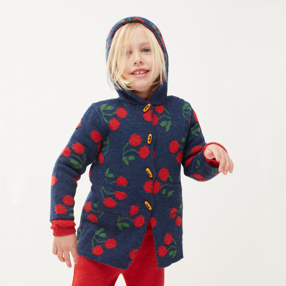 OEUF Sweater Toggle Cherries