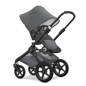Bugaboo Classic Collection Fox Stroller with black frame & grey melange