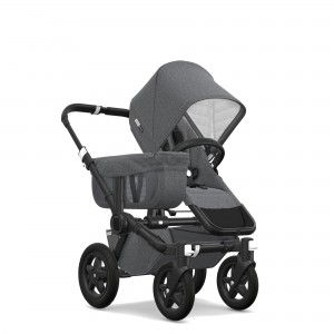 Bugaboo Classic Collection Donkey 2 Mono Stroller Black frame with grey melange