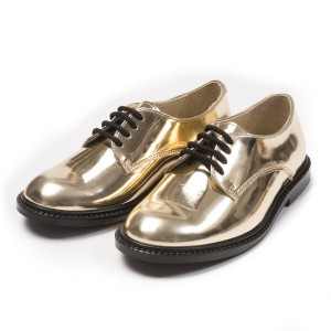 Bonton Gold Lace-Up Shoes