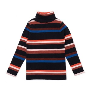 Bonton Striped Turtleneck Sweater