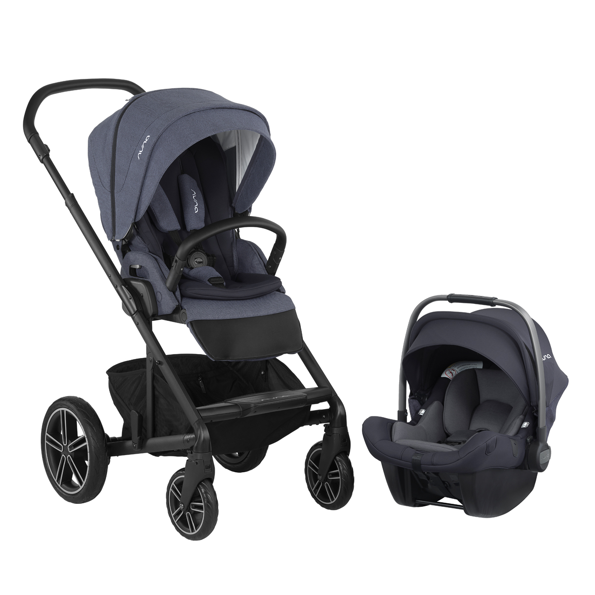 Nuna Mixx Stroller & Car Seat Travel System in Bleu