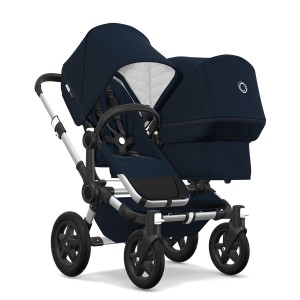 Bugaboo Classic Collection Donkey 2 Duo Stroller Aluminum frame with dark navy