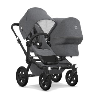 Bugaboo Classic Collection Donkey 2 Duo Stroller Black frame with grey melange