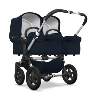 Bugaboo Classic Collection Donkey 2 Twin Stroller Aluminum frame with Dark Navy