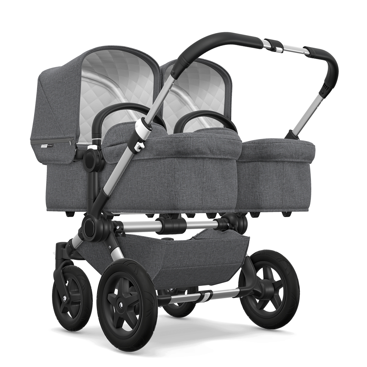 Bugaboo Classic Collection Donkey 2 Twin Stroller Aluminum frame with Grey Melange