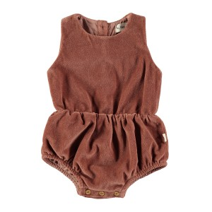 My Little Cozmo Rose Velour Romper