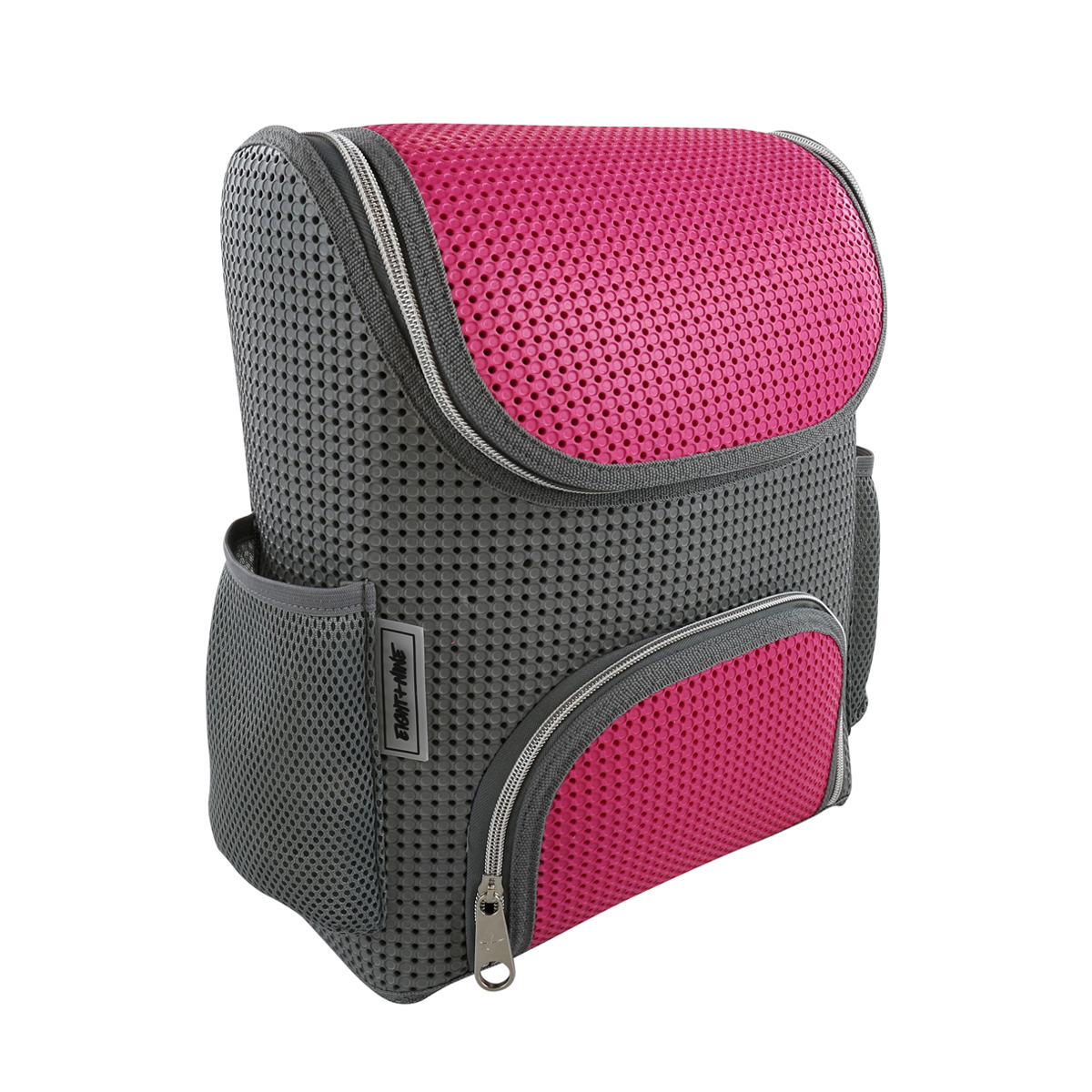 Light + Nine Student Backpack in Charm Pink & Grey