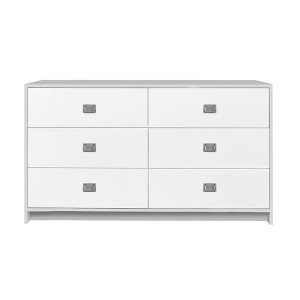 DucDuc Campaign Doublewide Dresser Light Grey with White