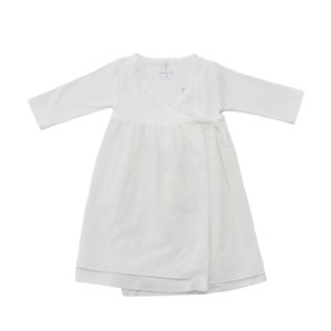 Laranjinha Ivory Bamboo Wrap Dress
