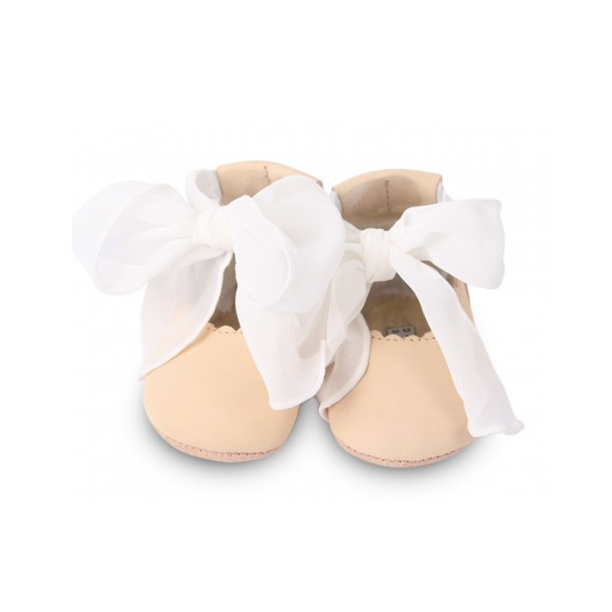Donsje Amsterdam Lieve Leather Baby Shoes in Powder Nubuck