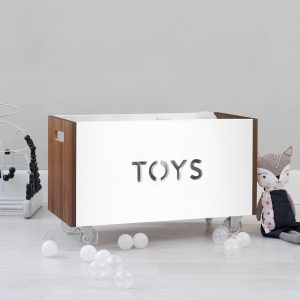 Nico & Yeye Toy box - white and walnut