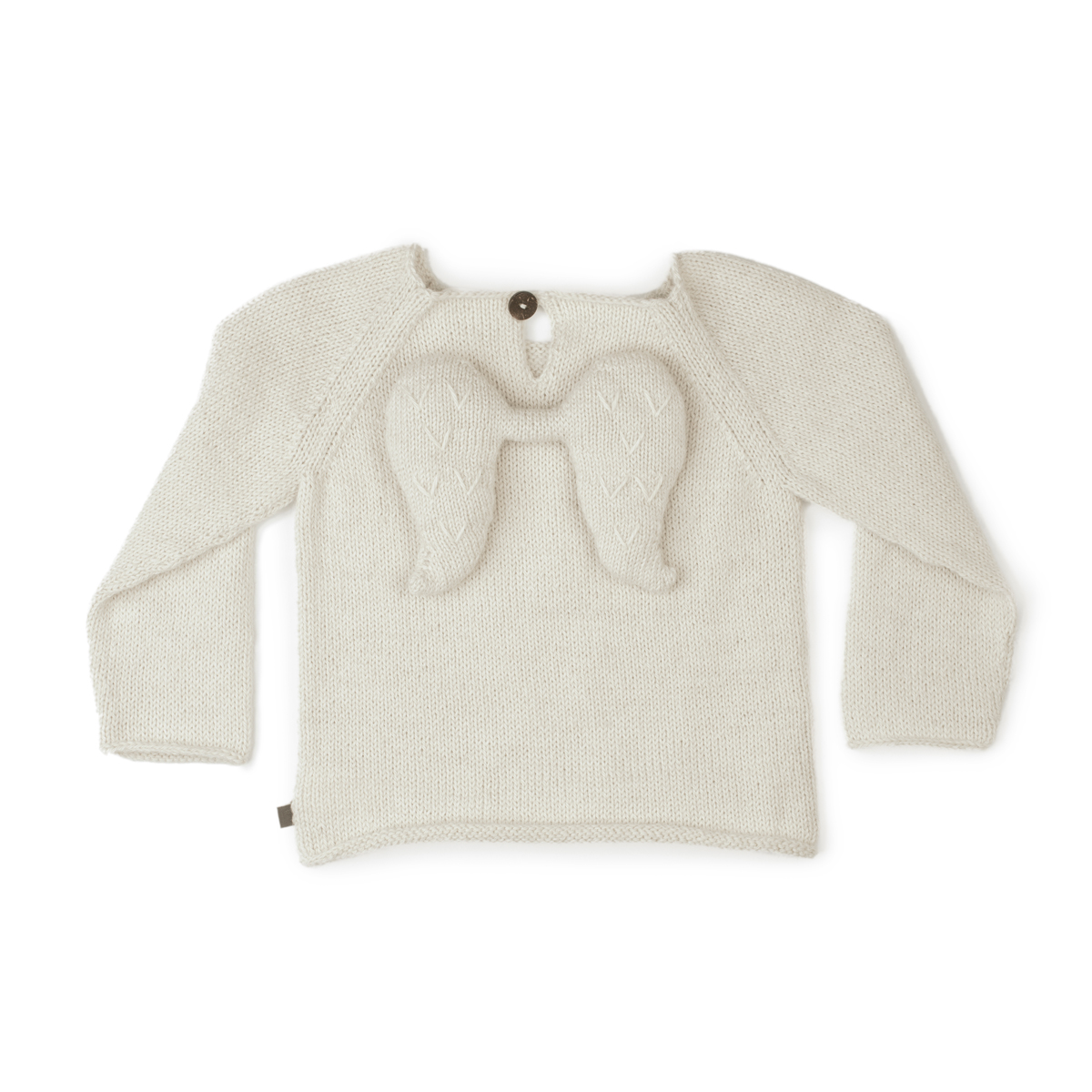Oeuf Alpaca Wool Angel Sweater in White