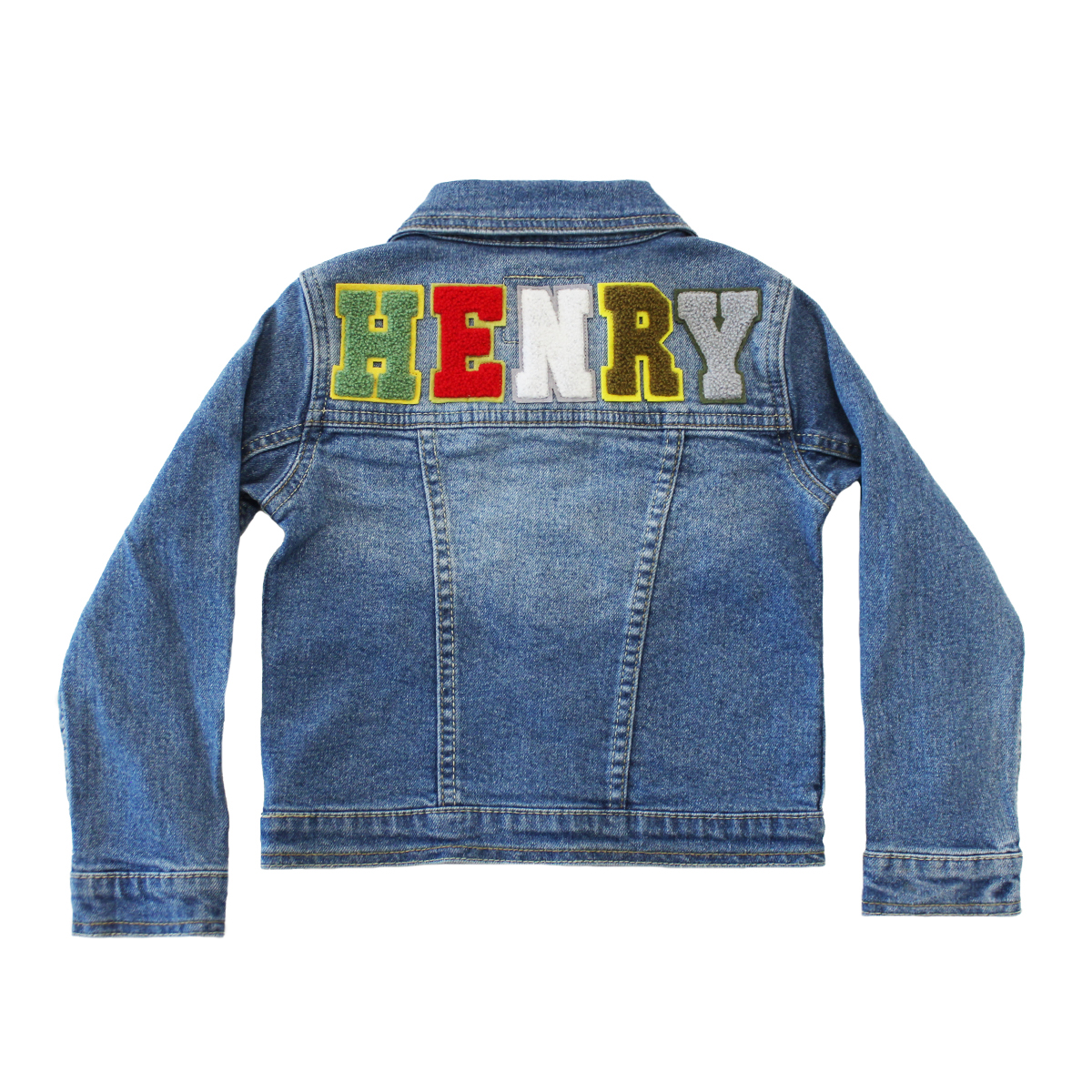 Levi's Personalized Denim Jacket w/ Dark colored alphabet
