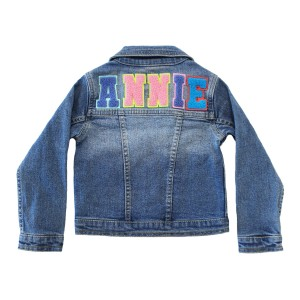 Levi's Personalized Denim Jacket w/ light colored alphabet