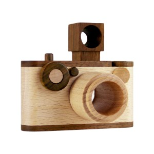 Father's Factory 35mm vintage wooden camera toy
