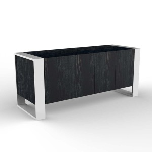 DucDuc Austin Credenza in Onyx Cerused & White