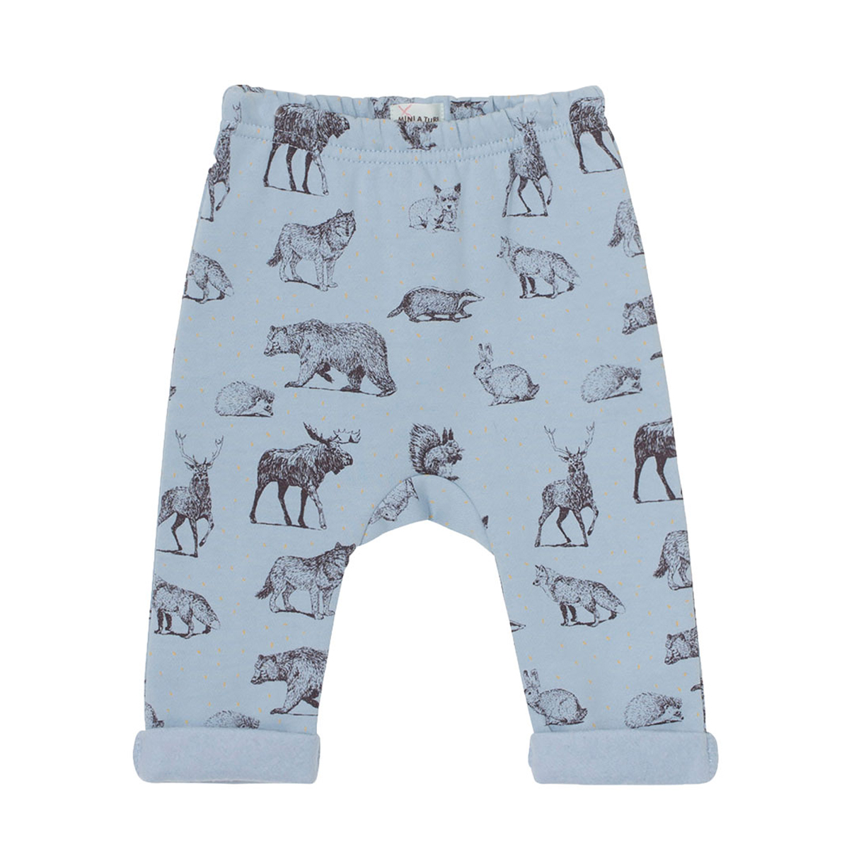 MiniATure Bos Pant in blue animals