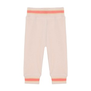 MiniATure Jordy Velour Pant in Cream Pink