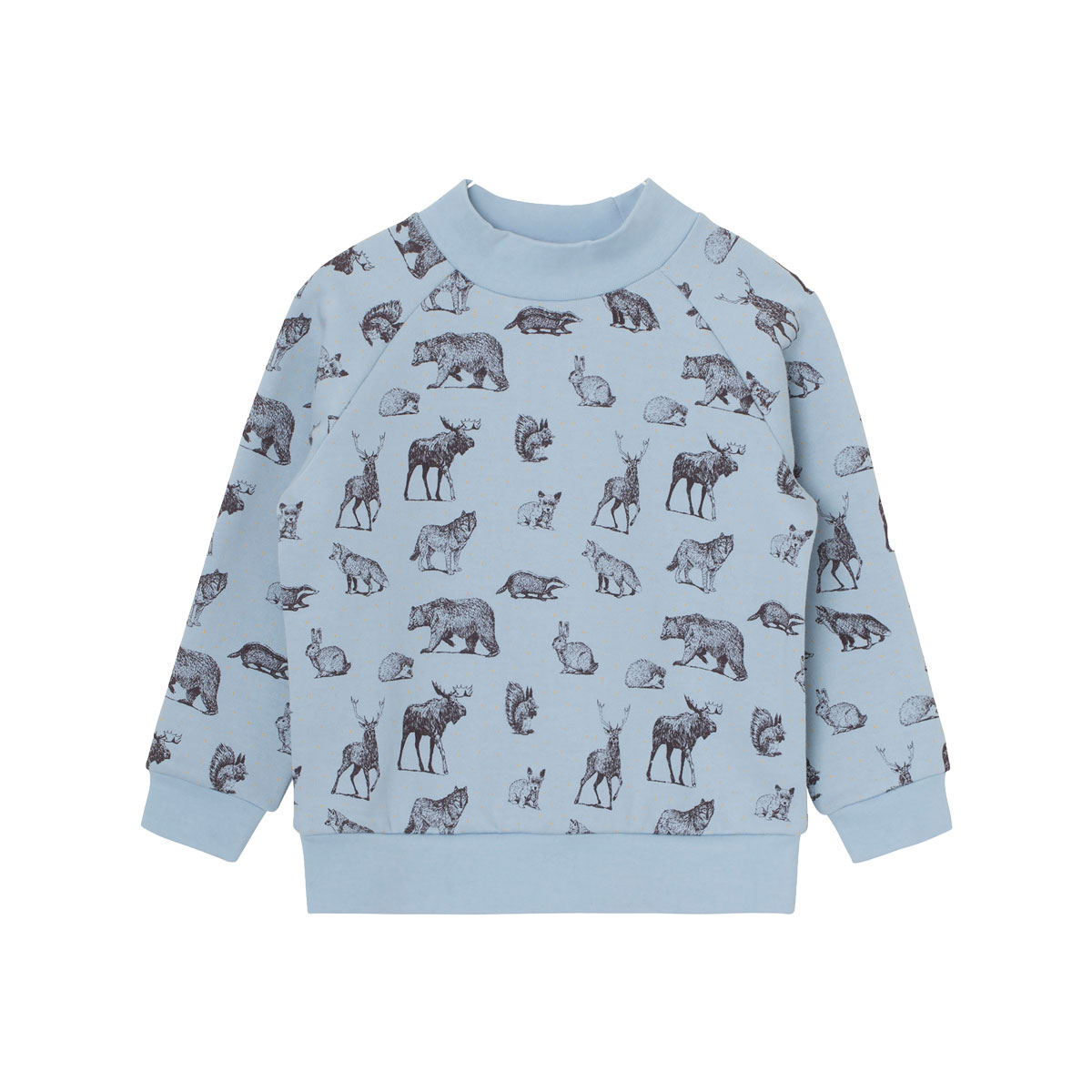 MiniATure Jannic Sweater in Blue Animals