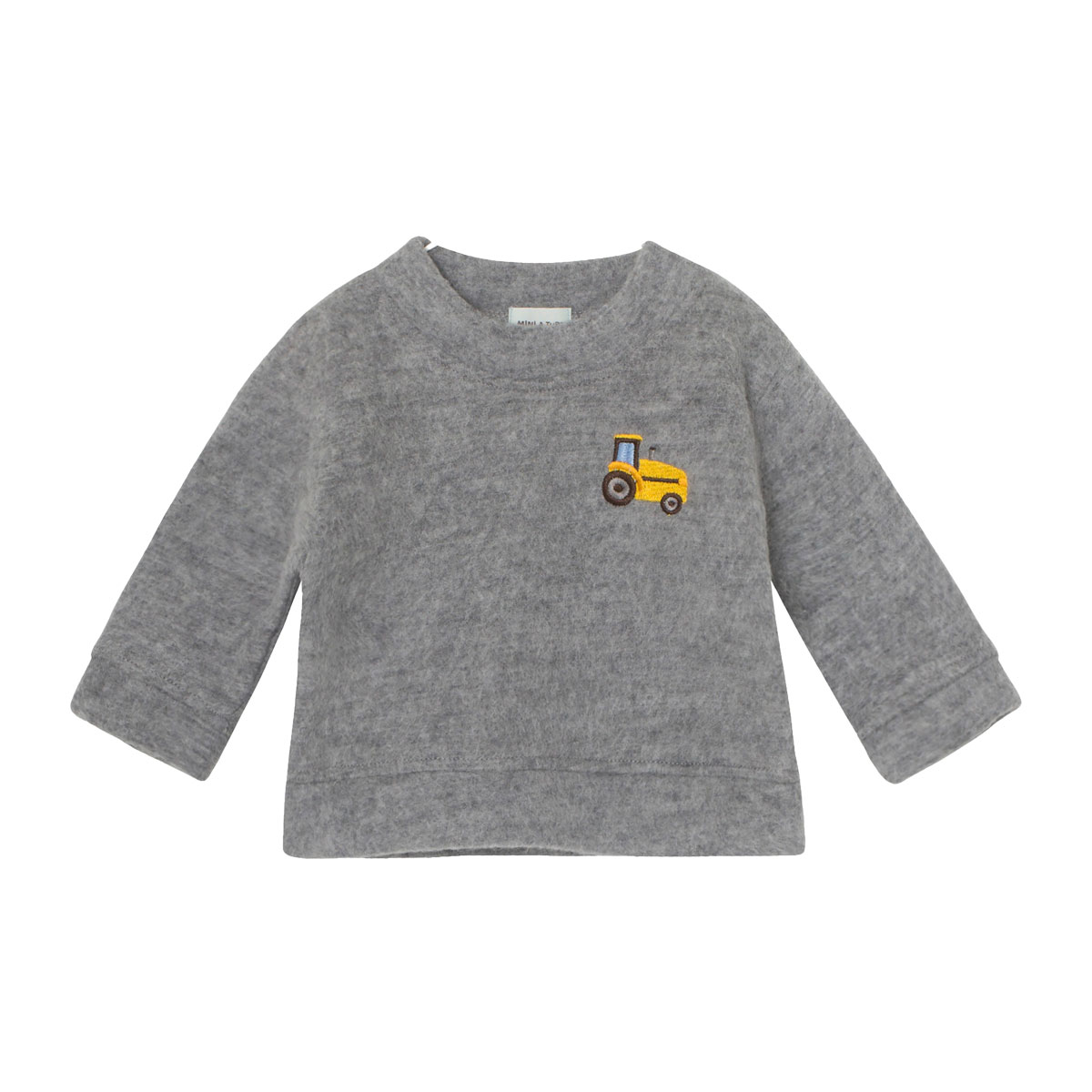 MiniATure Jannic Sweater in Grey with tractor