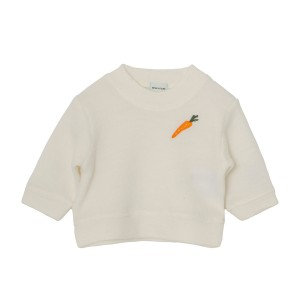 MiniATure Jannic Sweater in White with carrot