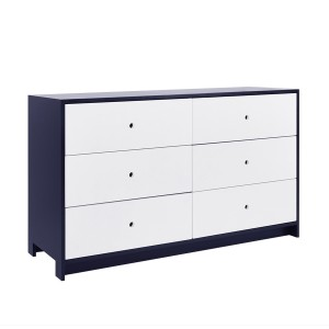 DucDuc Parker Double Wide Dresser in Old Navy with White