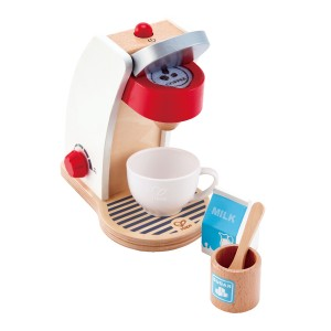 Hape White Wooden Coffee Maker Toy