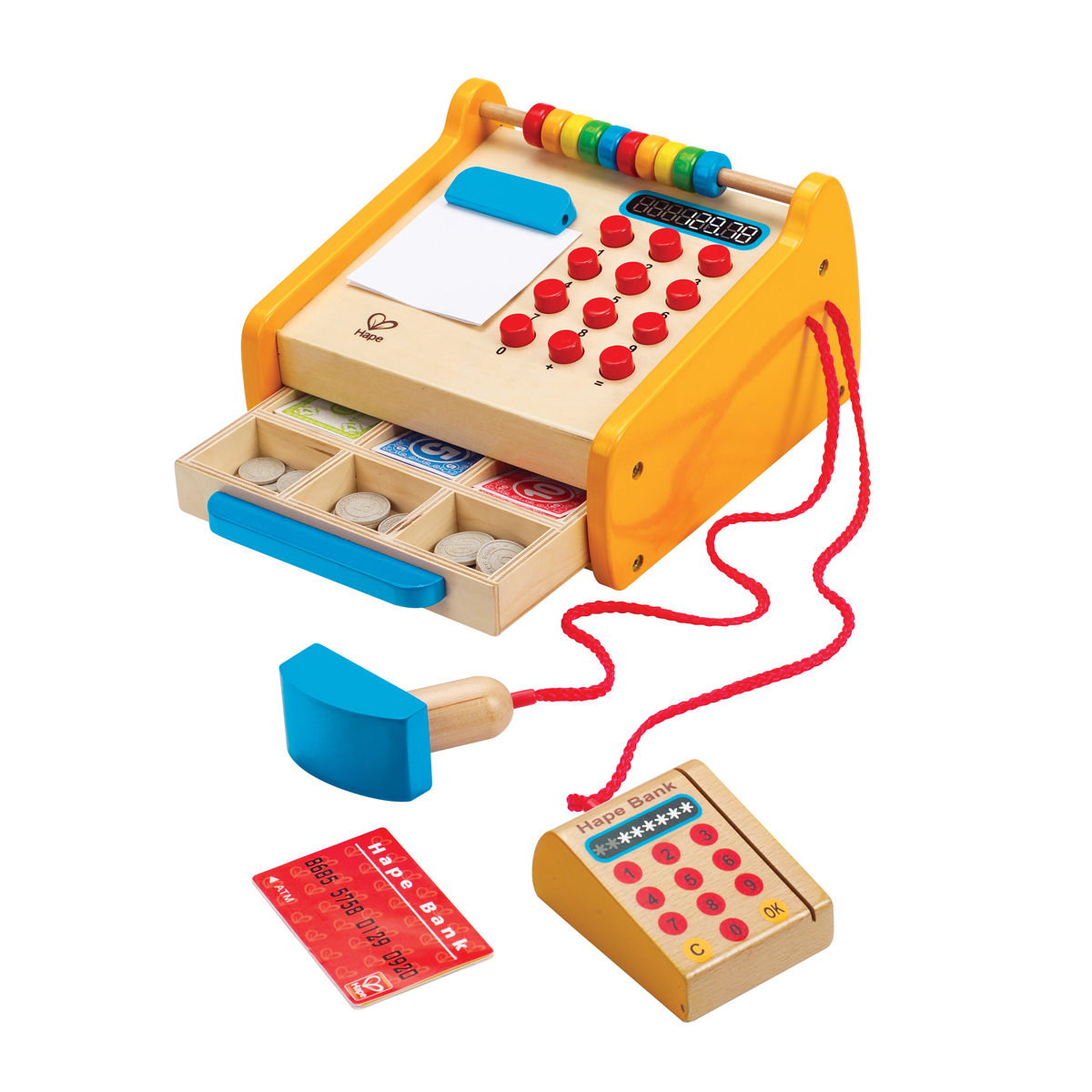Hape Wooden Cash Register Toy Set