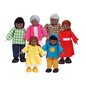 Hape Doll House Family Set African American