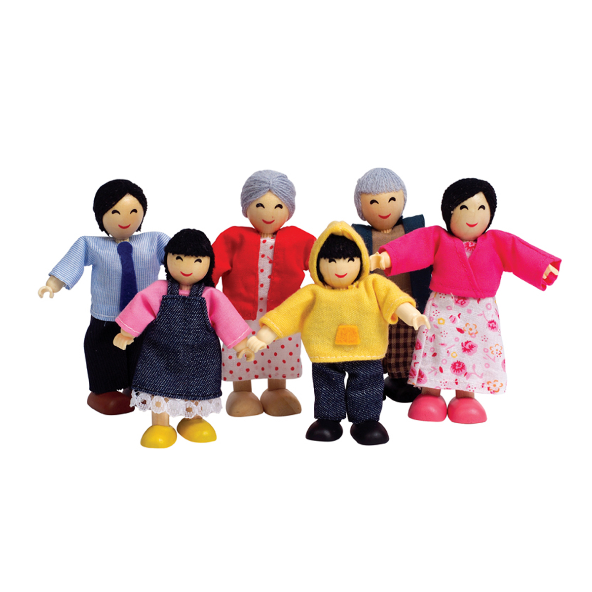 Hape Doll House Family Set Asian
