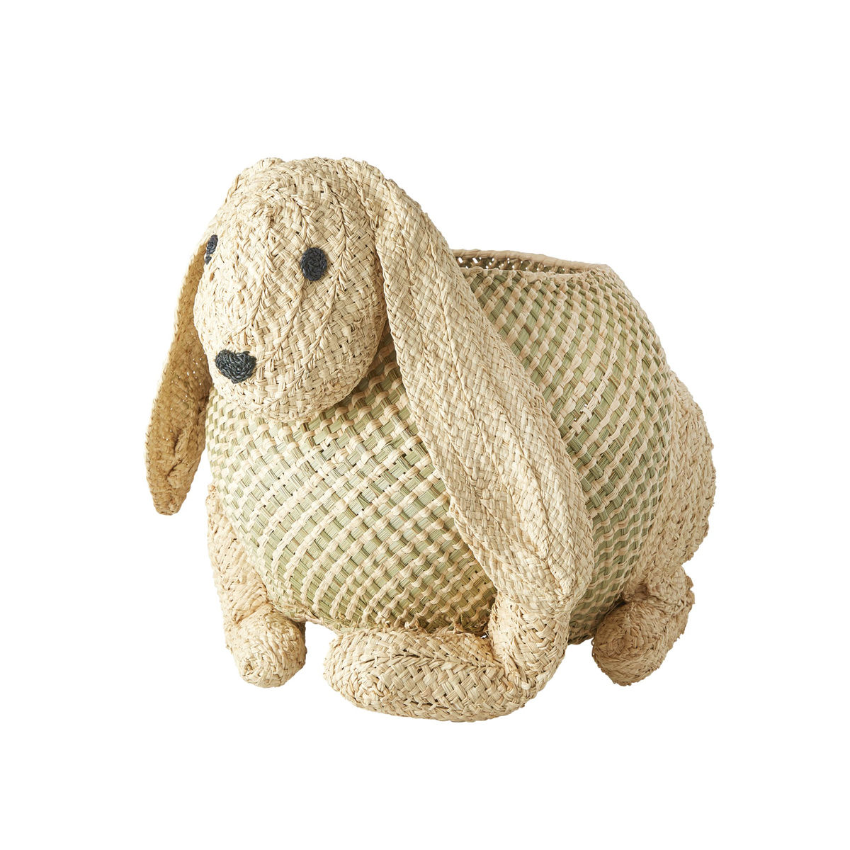 Rice Woven Storage Basket in Bunny