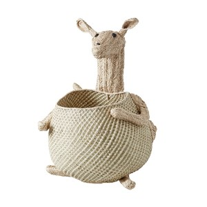 Rice Woven Storage Basket in Kangaroo