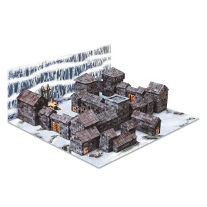 Wise Elk Black Castle Mini Brick Construction Set
