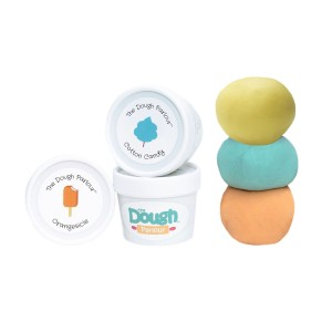 The Dough Parlour scented play dough set with Banana Split Orangesicle and Cotton Candy