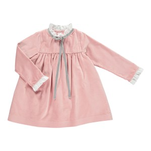 Benedita Light Pink Long Sleeve Duchess Dress