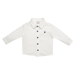 Paz Rodriguez White Woven Tundra Dress Shirt