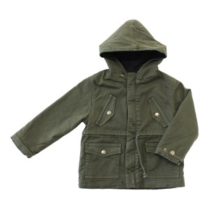 Louis Louise Hooded Ralph Jacket in Army Green