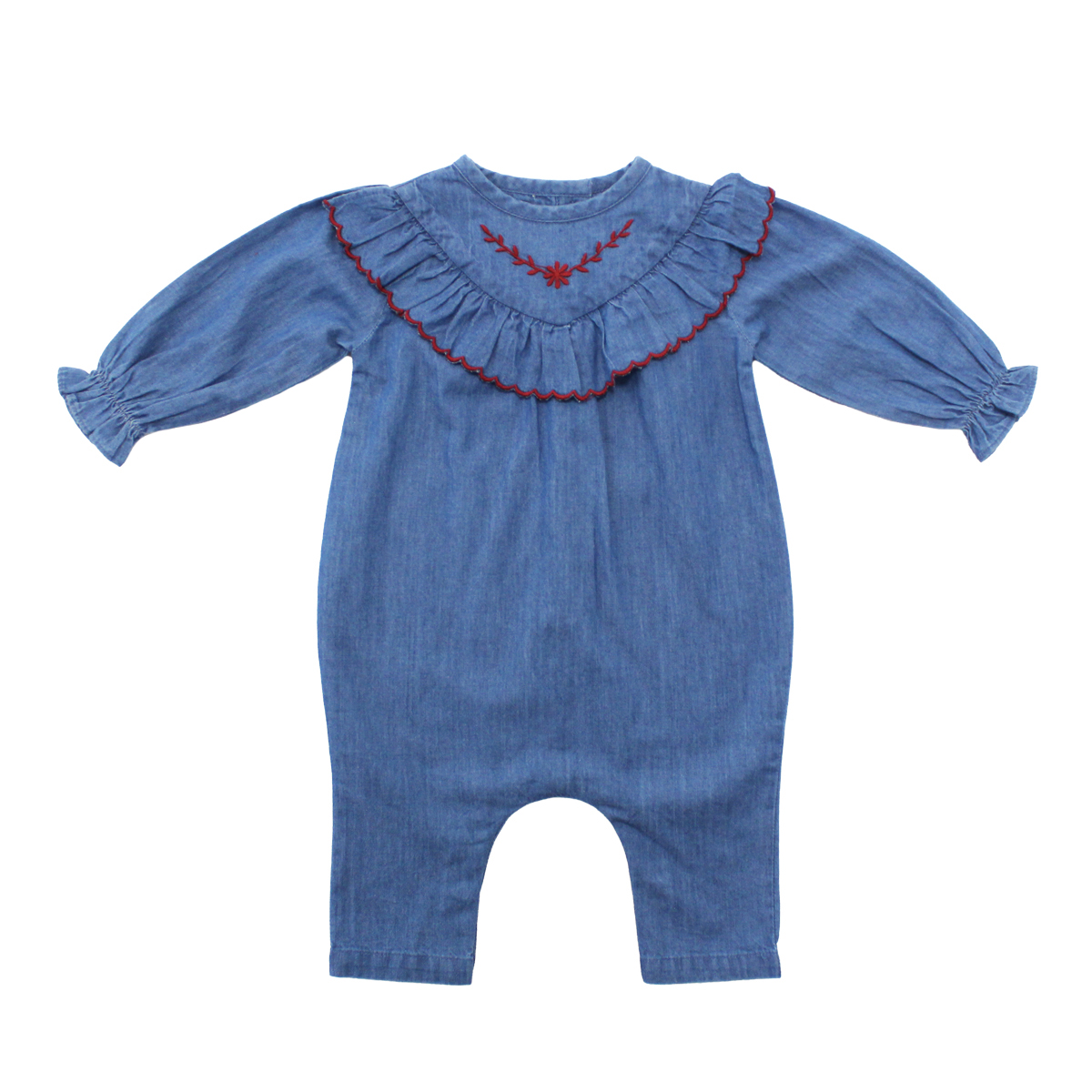 Louis Louise Alizee Overall Romper in Chambray