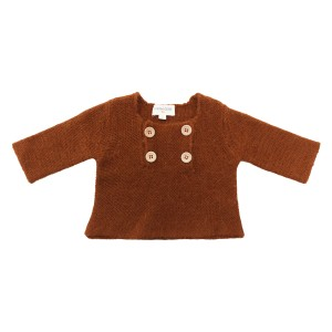 Louis Louise Pull Charlot Knit Sweater in Cognac