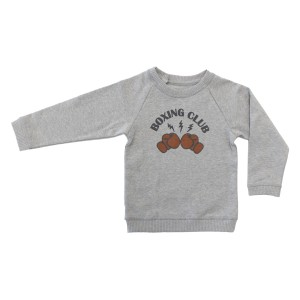 Louis Louise James Sweater in Marled Grey