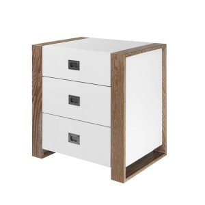 DucDuc Austin 3 drawer Nightstand with Campaign Pulls