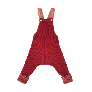 Mabli Knits Rhesi Dungarees in Madder & Rosewood