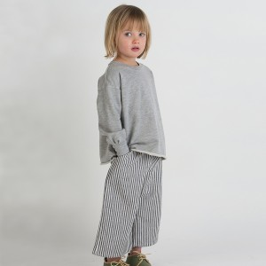 Go Gently Nation Culotte Pant in Vertical Stripe on girl