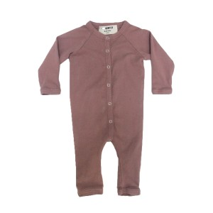 Go Gently Nation Solid Color Romper in Cinnamon