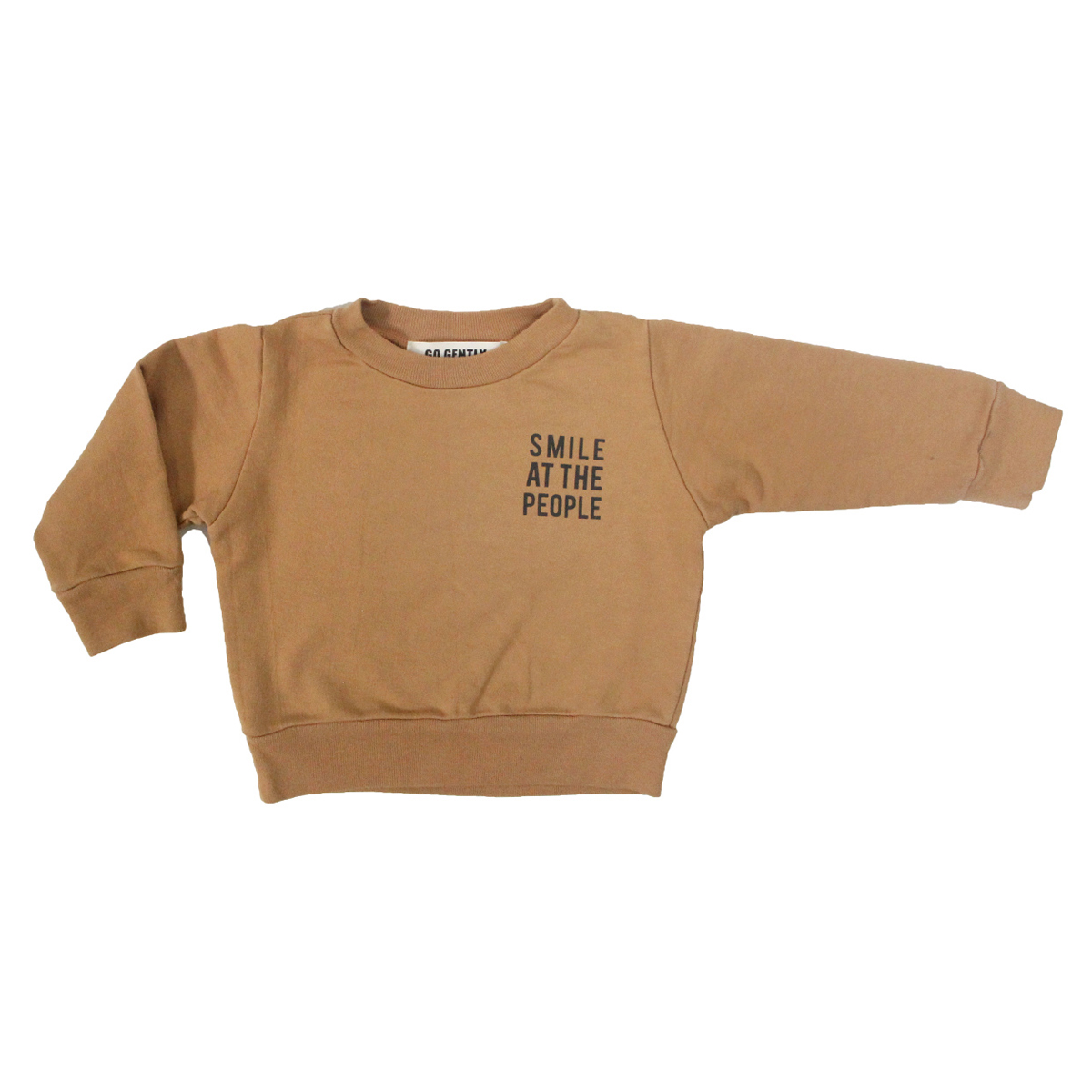 Go Gently Nation Smile At The People Sweatshirt in Flax