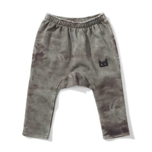 Munster Kids Palm Clouds Pant in Washed Olive